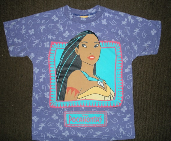 Vintage pocahontas t shirt child size large for Oversized disney t shirts