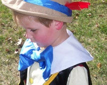 Child's Pinocchio Hat - Childrens Costumes, German Hat, Alpine Hat, Boys Costume, Dress up Hats, Pinocchio Hat, Felt Hat, Feather Hat