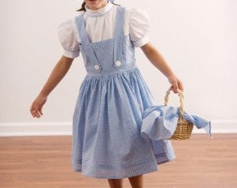 Dorothy Dress Costume Set - Custom Girls Sizes - Wizard of Oz Costumes, Girls Costumes, Family Costume Ideas, Child Halloween Costume
