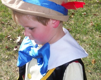 Child's Pinocchio Hat - Childrens Costumes, German Hat, Alpine Hat, Boys Costume, Pinnochio - READY TO SHIP