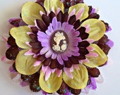 Girls fairy Flower hair clip, Woodland Fairies Collection