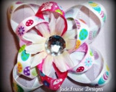 Girls Flower Hair clip Accessory Daisy and Ribbon Hair clip Clearance Item