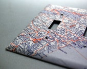 wall switch cover plate: Old Map