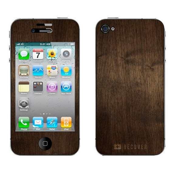 Real Wood Skin - iPhone 4/4S- Walnut Chocolate