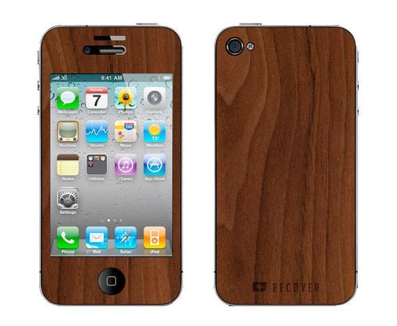 Real Wood Skin - iPhone 4/4S - Walnut