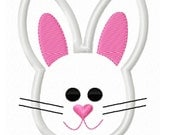 Digitizing Dolls Easter Bunny Face Head Applique Machine Embroidery Design 4x4 5x7 INSTANT DOWNLOAD