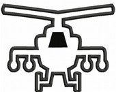 Digitizing Dolls Apache Helicopter Applique Machine Embroidery Design 4x4 5x7 Military Army Marines AH-64 INSTANT DOWNLOAD