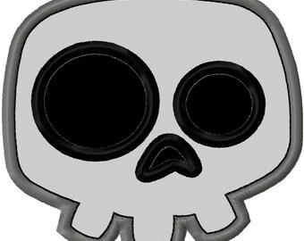 Halloween Skull Applique 2 Machine Embroidery Design 4x4 5x7 INSTANT DOWNLOAD