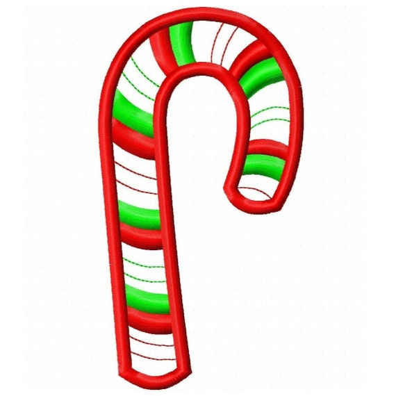 Digitizing Dolls Candy Cane 2 Machine Embroidery Applique Design 4x4 5x7 INSTANT DOWNLOAD