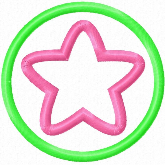 Digitizing Dolls Star Circle Applique Machine Embroidery Design 3x3 4x4 5x5 INSTANT DOWNLOAD