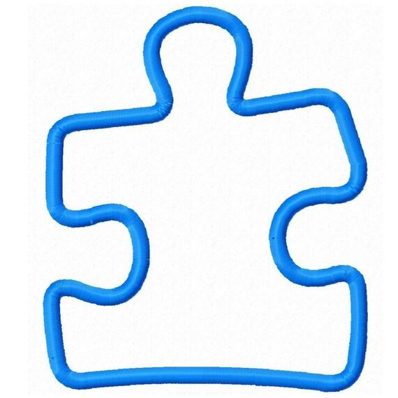 Digitizing Dolls Puzzle Piece Applique Machine Embroidery Design 4x4 5x7 6x10 autism awareness INSTANT DOWNLOAD