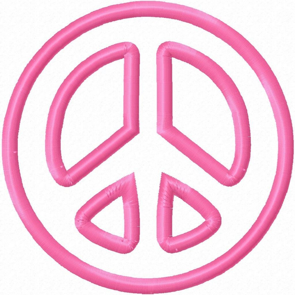 Peace Sign Designs Peace Sign Embroidery Design
