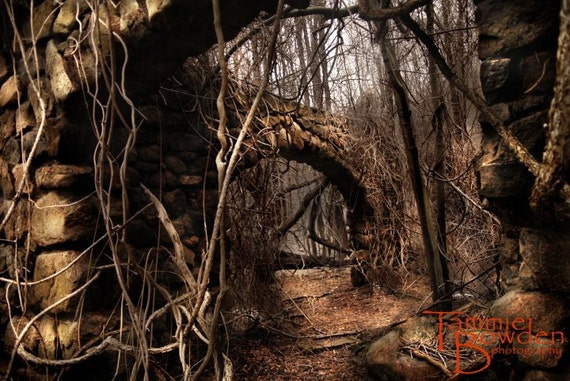 Stone Arches - Original Photograph - Mysterious Abandoned Ruins Fantasy Landscape Haunted Halloween