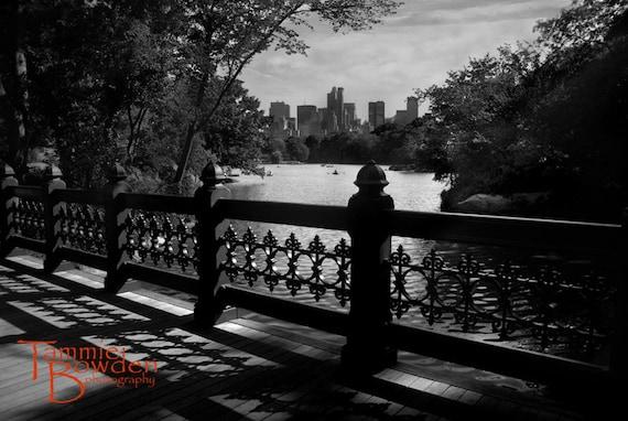 Central Park View - Original Photograph - New York City NYC Landmark Black and White Bridge
