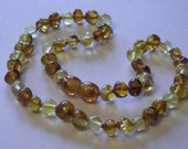 Cognac and Lemon Baltic Amber Teething Necklace