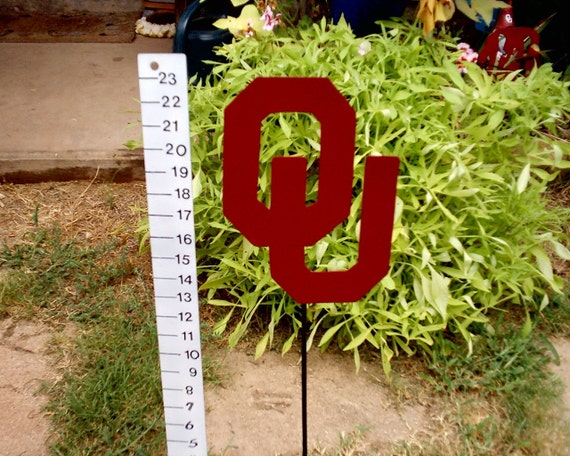 Large OU Sign Metal Art