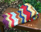 Newborn Baby Photo Prop Blanket and Basket Filler - Large Size in Bright Bold Colors - READY TO SHIP