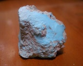 Untreated Blue American Turquoise Nugget, From Old Rock Hounds Estate, 23.3 Grams