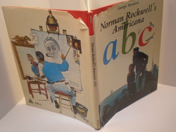 Reserved for Jean, 1975 Norman Rockwell's Americana A B C Book by George Mendoza, Cute Book