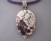 Sterling Dogtooth Amethyst Pendant Necklace