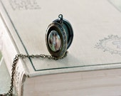 Equestrian Lovers - Fine Art Photo Locket by Laura Ruth  - (Vintage Inspired Brass) - Wearable Art