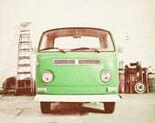 "Vintage VW Bus - Retro and Vintage Inspired - Home Decor - Volkwagen Love - ""Retro Ride"""