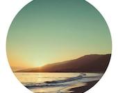"Beach Photo - Travel Photography - Landscape - Retro - Vintage Inspired - Dreamy - Home Decor - Fine Art Photograph 8x8 - ""Malibu"""