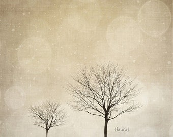 SALE 50% Off - Winter Wonderland - Tree Photography - Dreamy - Neutral - Baby Nursery - Home Decor - Fine Art Photograph