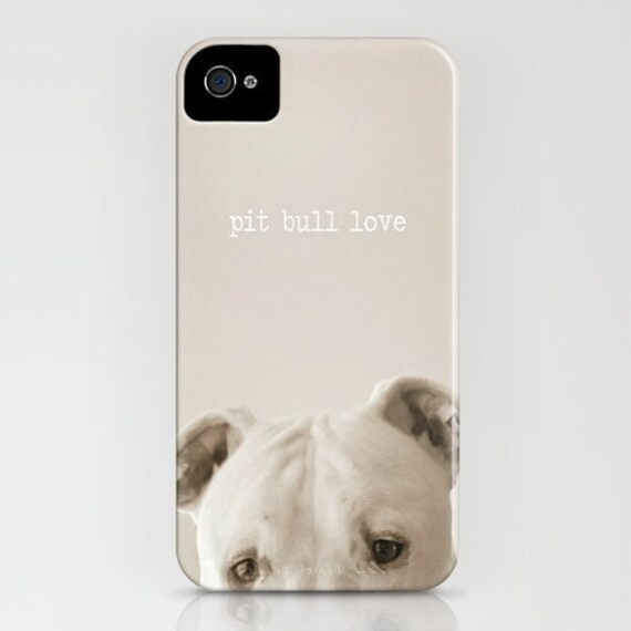 "Iphone Case - ""Pit Bull Love"" - Vintage Inspired - Cell phone Case -  Fine Art Photo on Cell Phone Case"
