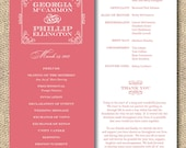 Printable Wedding Program - Southern Belle