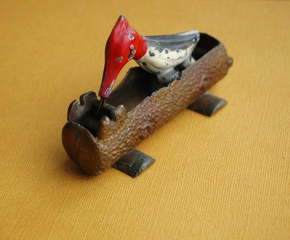 Woodpecker Tin 1950s Toy Toothpick Holder By Klickatat On Etsy