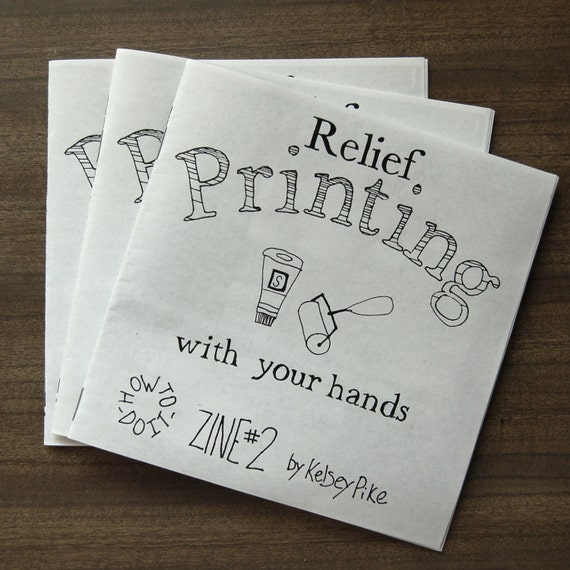 Relief Printmaking How-to-do-it Zine 2