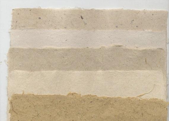 5 Sheet Handmade Paper Sampler