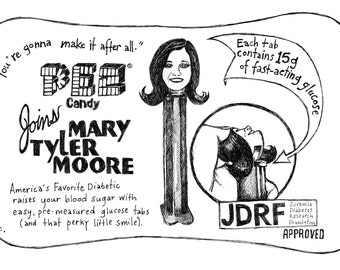 You're Going to Make - Mary Tyler Moore - Pen & Ink Illustration