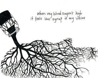 Syrupy Blood - Pen & Ink Illustration