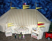 O Scale Fabric Circus Big Top Tent Set