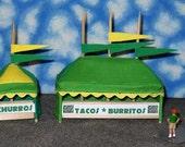 O Scale Carnival Concession Tent Set- Tacos/Burritos Churros