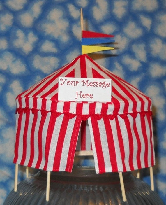 Circus Tent Cake Topper Or Table Decoration Personalized 570x539 · Circus ... & Circus Tent Cake Topper Pictures to Pin on Pinterest - ThePinsta