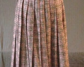 RESERVED FOR SIJOINT 50s Wool Pleated Pink and Black Tweed Skirt AS IS