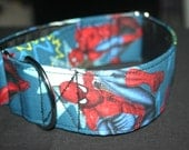 "Custom Fabric Superhero Fabric Overlay 2"" Slide Collar"