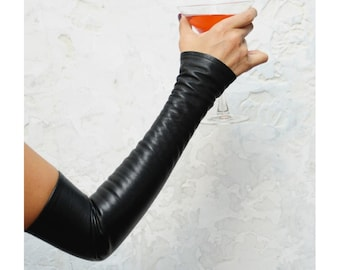 Sexy Fingerless Leather Gloves - known as  Kittys