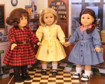 Doll Clothes Pattern, Shirtwaist Dress, No 1004