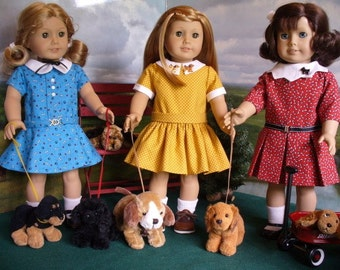 Doll Clothes Pattern, Walkin the Dogs, No 1013