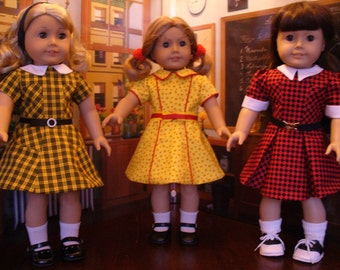 Doll Clothes Patterns, School Days '40's Favorites No 1016