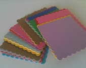 Scalloped Squares 8 - 4 inches Pick You Colors