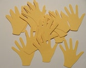25 Hands Die Cut 2 inches - Choose Your Colors
