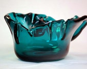Funky Turquoise Glass Bowl by Michael Panella