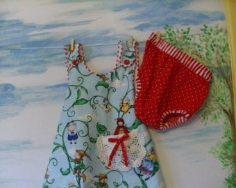 Fairy Tale Dress and Bloomers 25% off  OOAK 6-9 months only