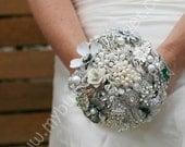 Wedding Brooch Bouquet - Bride - Medium
