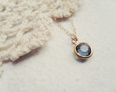 moonlight - simple vintage swarovski necklace
